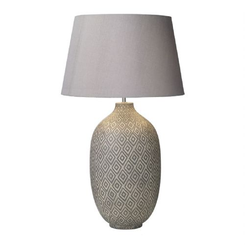 Ceyda Table Lamp Ceramic & Grey Base Only CEY4239